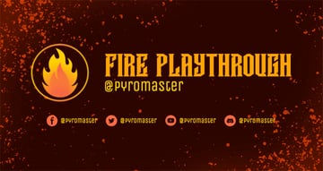 Free Twitch Banner Maker with a Flame Icon