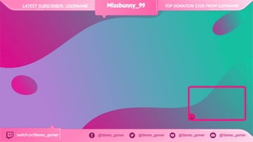 Free Twitch Overlay OBS  for Female Gamers