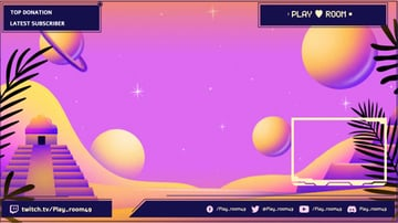 Free Twitch Overlay Template Featuring a Landscape