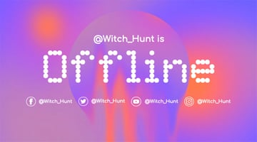 Colorful Twitch Offline Banner Template with Dotted Font