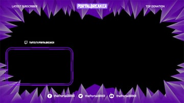 OBS Streaming Border With Pointed Shapes