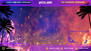 Gaming Twitch Overlay Maker Featuring a Burning Background