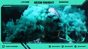 OBS Stream Overlay for a Gamer Featuring a Neon Frame