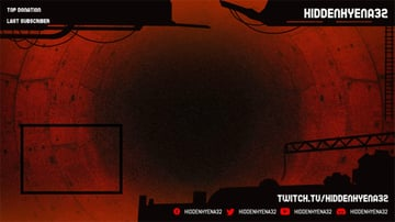 Twitch Overlay Template for a Horror Game Stream with a Webcam Frame