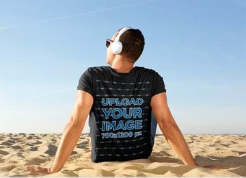 T-Shirt Back Side Mockup