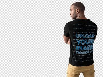 Black Shirt Back Mockup