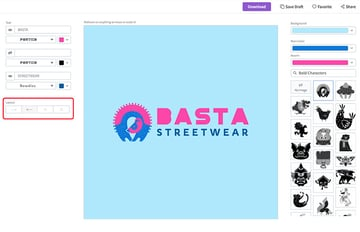 You can change the layout of the logo as well.