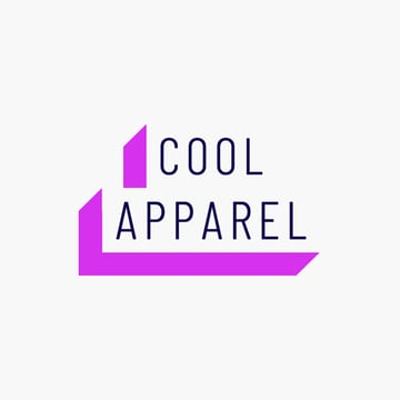 Clothing Line Logo Design With a 3D Text Banner Style