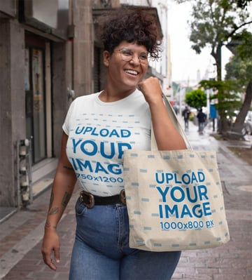 White Shirt Women's Plus Size Mockup Template
