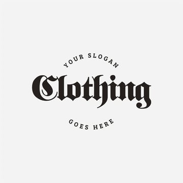 Cool Goth Logo Typography Ideas Template for Clothing Brand