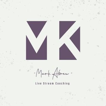 Minimal Typography Logo Generator for Online Fitness Coaches