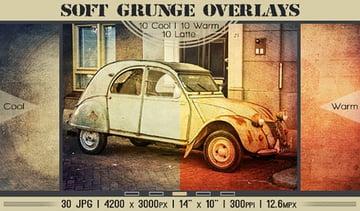 30 Grunge Photoshop Overlay Textures