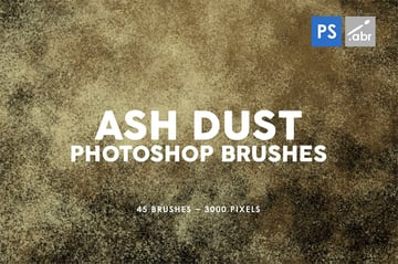 45 Ash Dust Photoshop Stamp Brushes