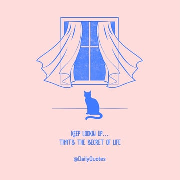 Facebook Post Creator Featuring a Quote and an Illustrated Cat
