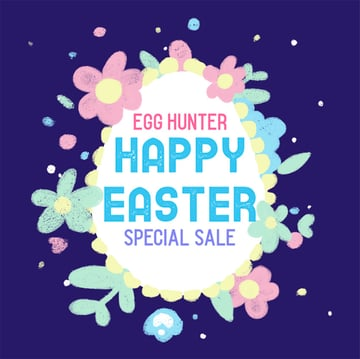 Illustrated Facebook Post Maker for an Easter Special Sale