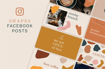 Shapes Facebook Posts Example Template