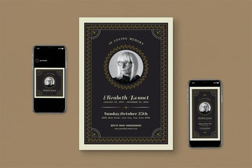 Memorial Service Pamphlet Template