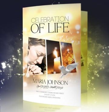 Celebration of Life Memorial Bulletin Templates