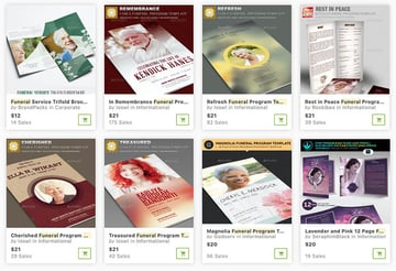 Funeral Pamphlet Templates From GraphicRiver