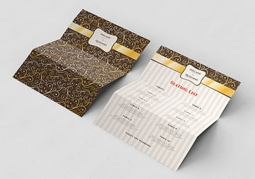 Gold Ornament Wedding Pack Indesign Template