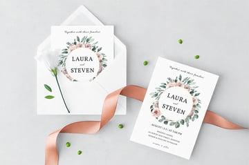 Wedding Wreath Wedding Invitation Template