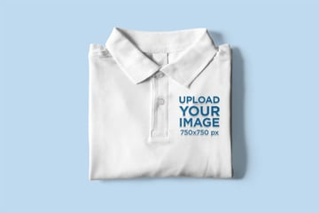 Mockup of a Folded Polo Shirt Placed on a Customizable Surface