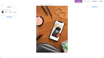 4. Download Your Customised iPhone Instagram Mockup for a Small Fee