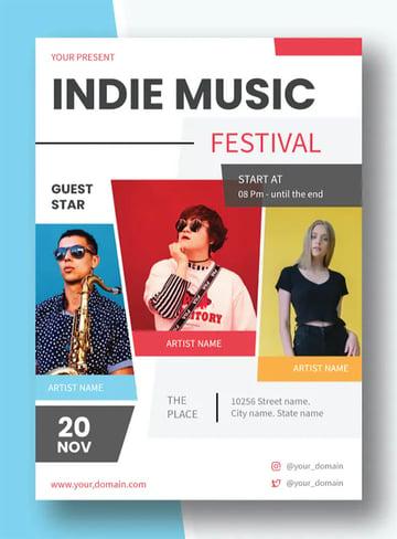 Indie Music Flyer Design Template