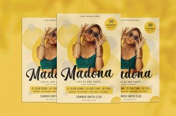 Madona Music Flyer Maker