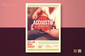 Accoustic Musical Flyer Design