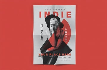 Indie Band Promo Music Flyer