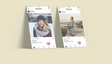 Stand Paper Mockup For Instagram Post