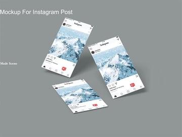 Paper Mockup for Instagram Post V.3