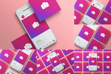 Instagram Post Mockup Template - Vol 03