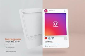 Instagram Post Mockup Template - Vol 04