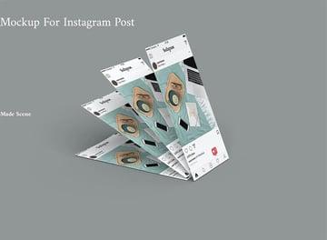 Paper Mockup for Instagram Post V.2