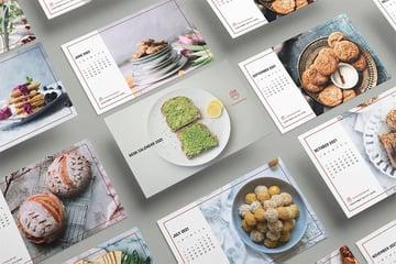 Food Desk Calendar Template