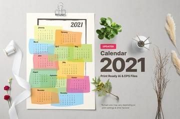 Calendar Document Template Layout