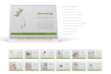 Printable Blank Calendar Template - Landscape