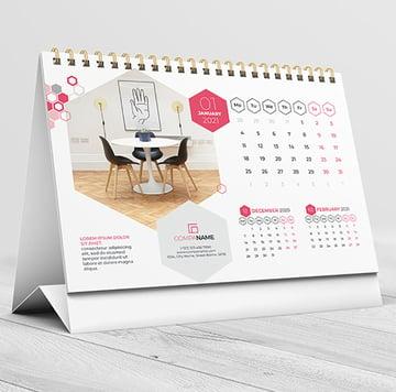 Desk Calendar Template