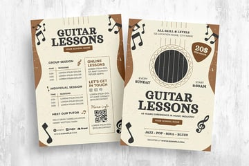 Guitar Lesson Flyer Template