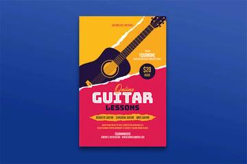 Music Lesson Flyer Design