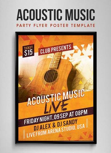Acoustic Music Flyer