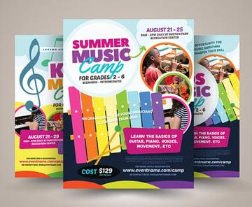 Summer Music Lesson Flyer