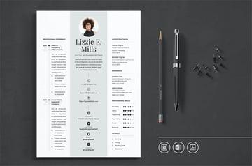 Professional CV Resume Indesign Template Vol.18
