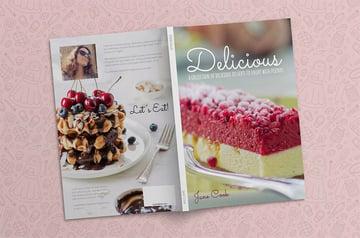 Dessert Cookbook Template InDesign