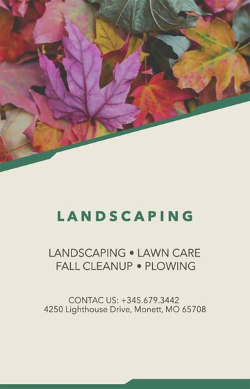 Fall Landscaping Flyers