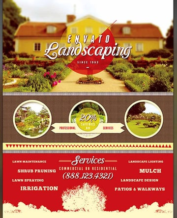 Multipurpose Landscaping Flyer Template
