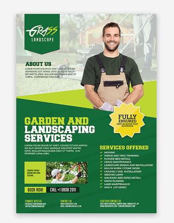 Grass Landscape Advertising Flyers