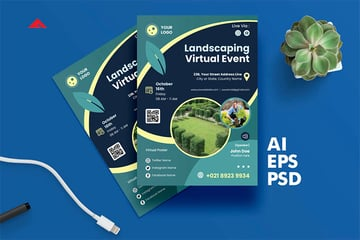 Landscaping Virtual Event Flyers